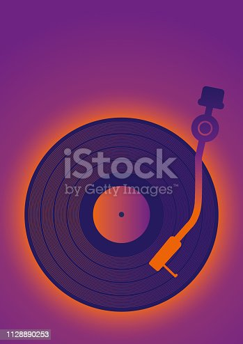 Vector Illustration of a Template Retro Vinil Music Poster Clip Art