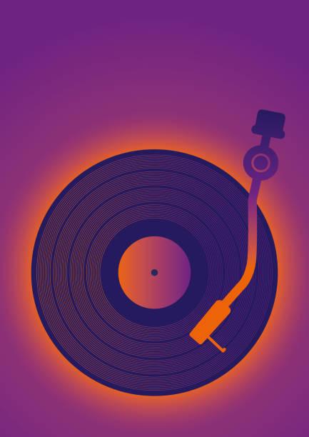 ilustrações, clipart, desenhos animados e ícones de cartaz retrô vinil music clip-art - toca discos