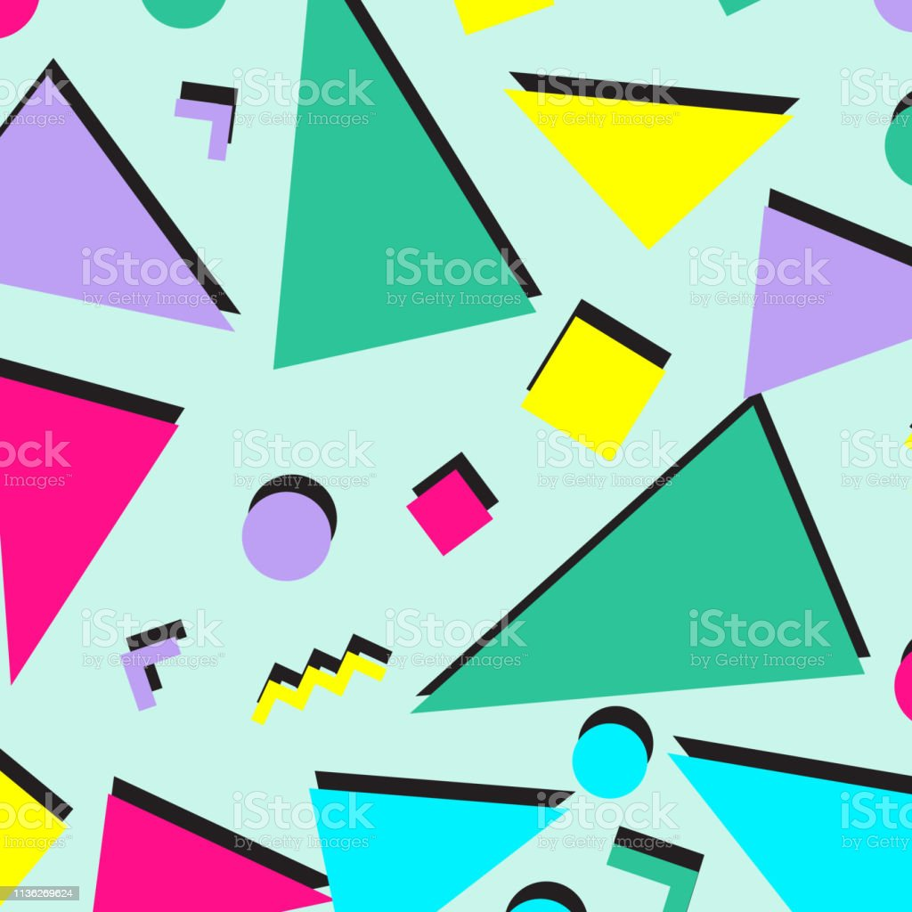 Retro Vintage 80s Or 90s Fashion Style Abstract Pattern