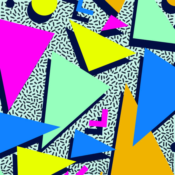 Retro vintage 80s or 90s fashion style abstract pattern background. Good for textile fabric design, wrapping paper and website wallpapers. Vector illustration. Retro vintage 80s or 90s fashion style abstract pattern background. Good for textile fabric design, wrapping paper and website wallpapers. Vector illustration. funky stock illustrations