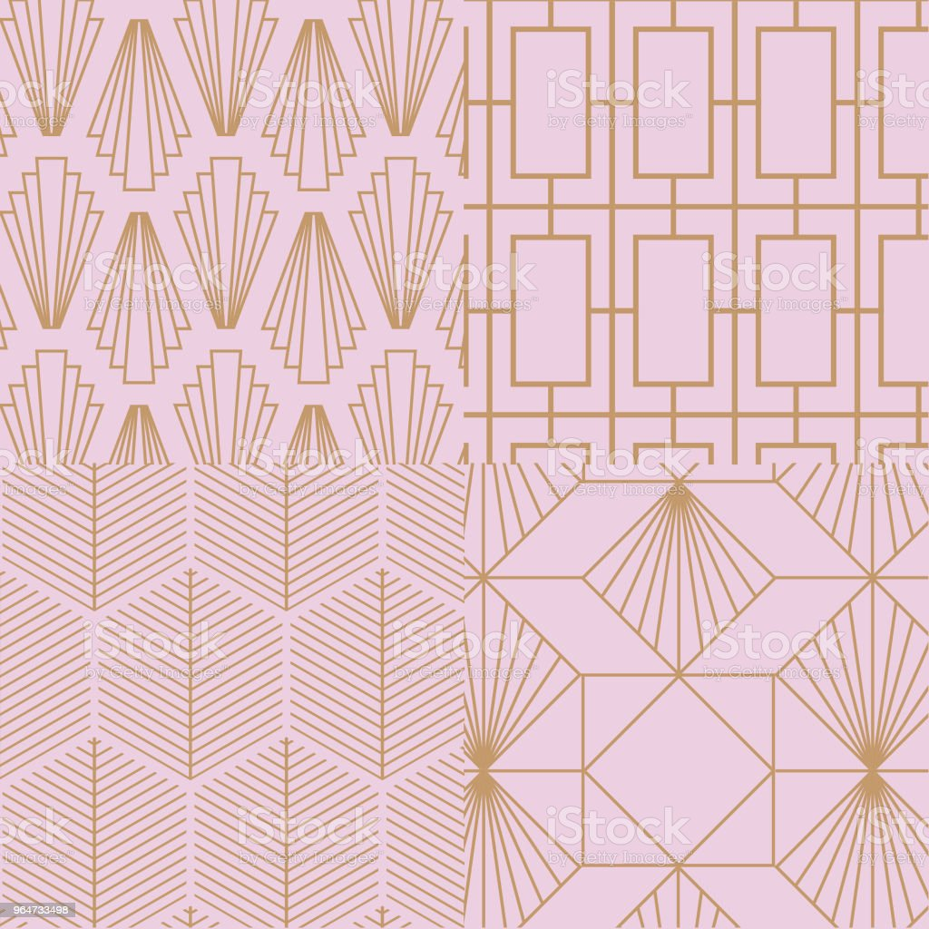 Retro, vintage, art deco, vector pattern set. royalty-free retro vintage art deco vector pattern set stock vector art & more images of abstract