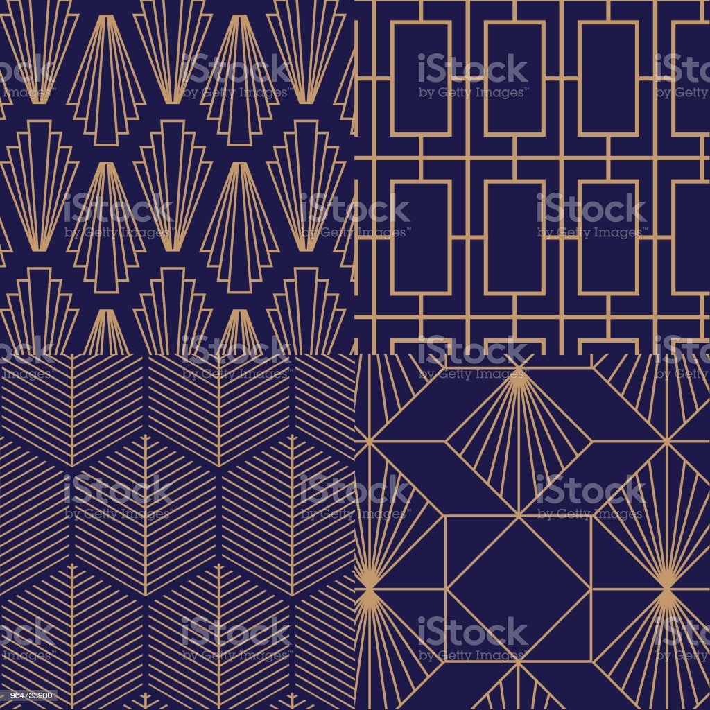 Retro, vintage, art deco, vector pattern. royalty-free retro vintage art deco vector pattern stock vector art & more images of abstract
