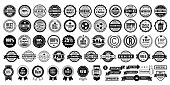 Retro vintage badges collection stock illustration