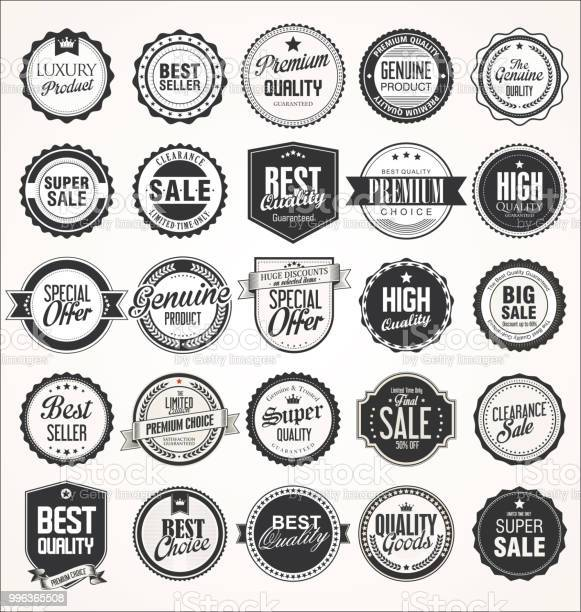 Retro vintage badges collection vector id996365508?b=1&k=6&m=996365508&s=612x612&h=0qpyjqib3lodfvjckpabz 5bzjmmfvndvukkk0s9g6c=
