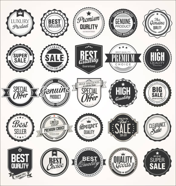 Retro vintage badges collectie​​vectorkunst illustratie