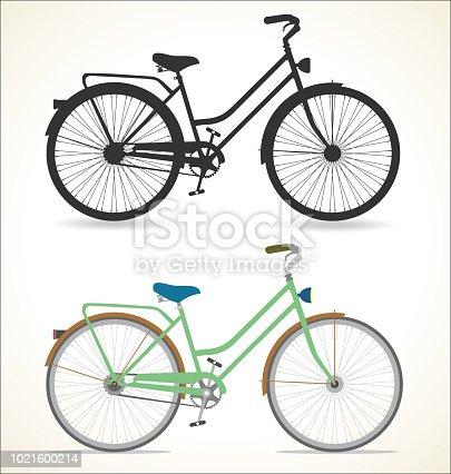 Retro vintage Bicycle Isolated on white background