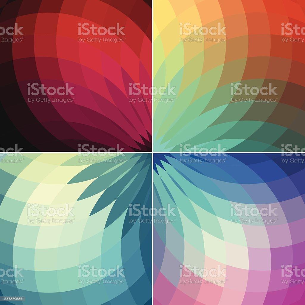 Retro vintage colours vector flower backgrounds vector art illustration