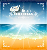 drawn of vector blank vintage holiday.This file has been used illustrator CS3 EPS10 version feature of multiply.