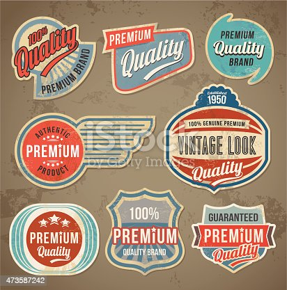 Vintage label set. Vector retro design banner backgrounds