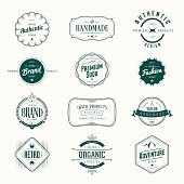 Retro vintage labels set.