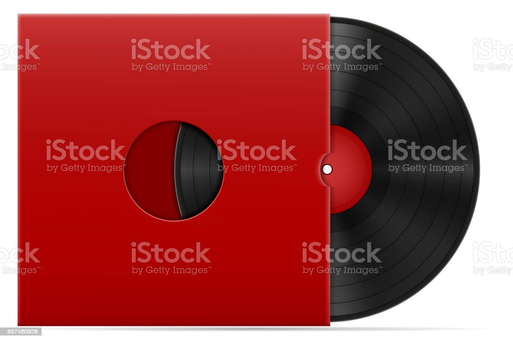 retro vinyl disk stock vector illustration vector art illustration