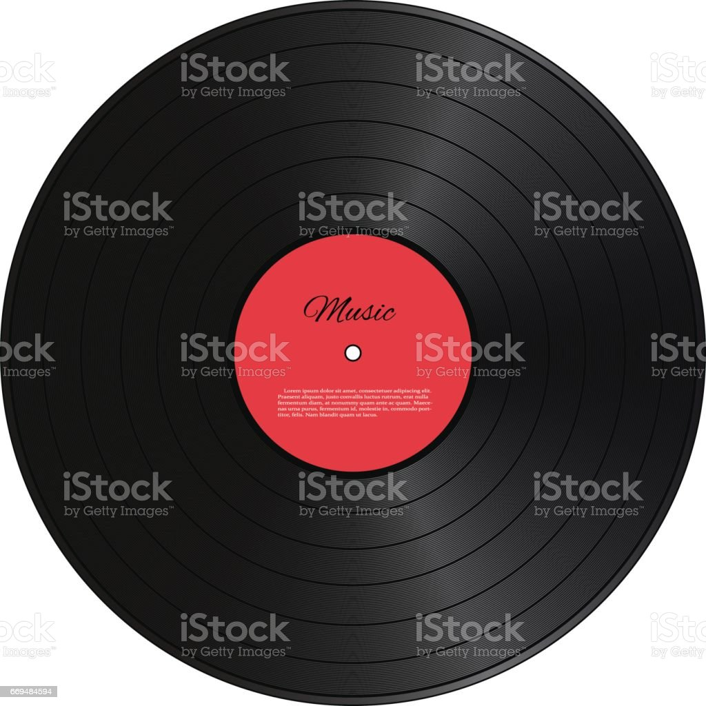 Retro vinyl disk. Vector illustration. vector art illustration
