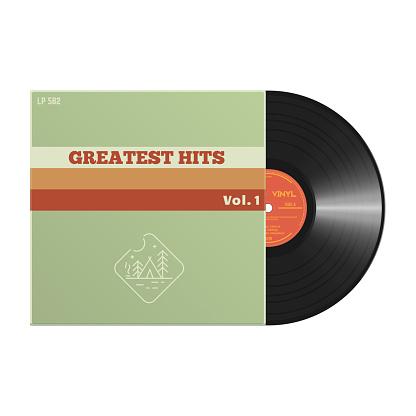 Retro vinyl record cover