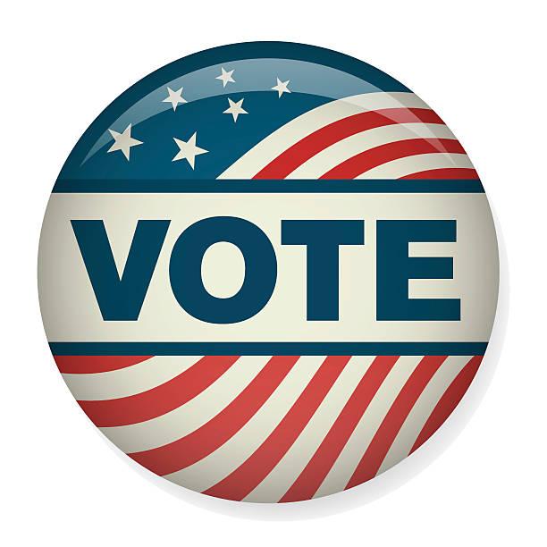 ретро голосования или голосующих кампании выборы pin» или логотипом. - presidential debate stock illustrations
