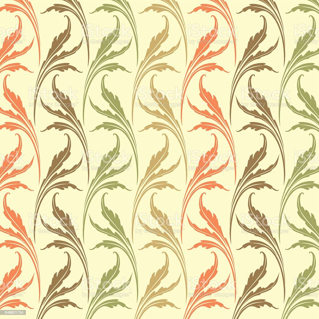 Retro Wallpaper Art Nouveau Stock Vector Art & More Images of ...