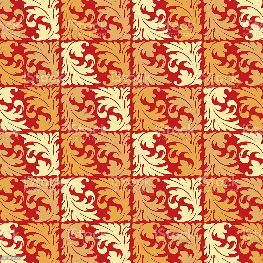 Retro Wallpaper Art Nouveau Stock Illustration Download Image