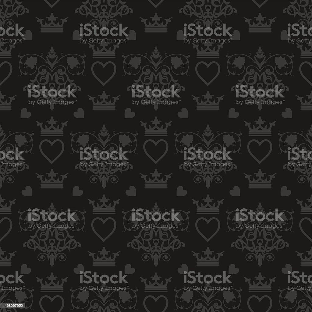 レトロなデザインテンプレートの壁紙ブラック 10 2015年のベクター