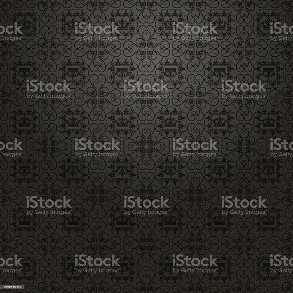 Retro Wallpaper Old Background for Design Black 5 royalty-free retro wallpaper old background for design black 5 stock vector art & more images of arts culture and entertainment