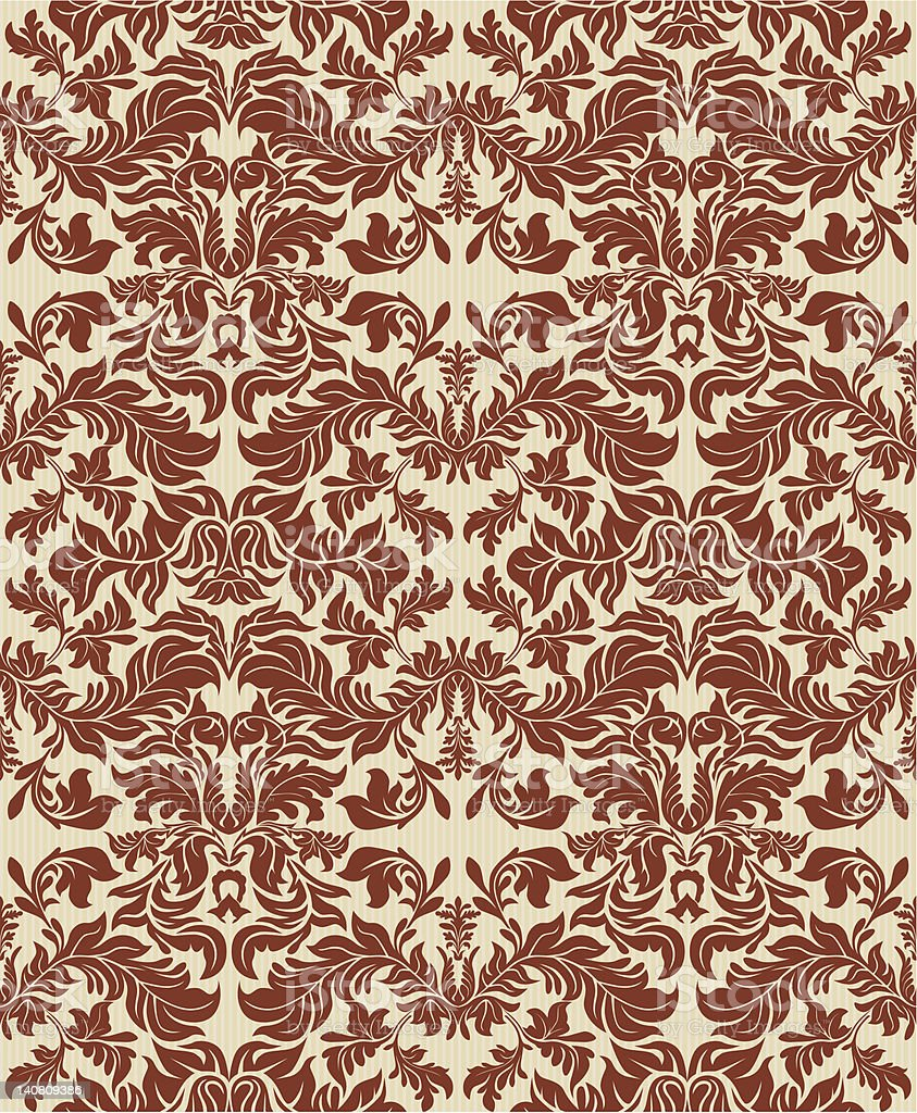 Retro Wallpaper Series (seamless) royalty-free stock vector art