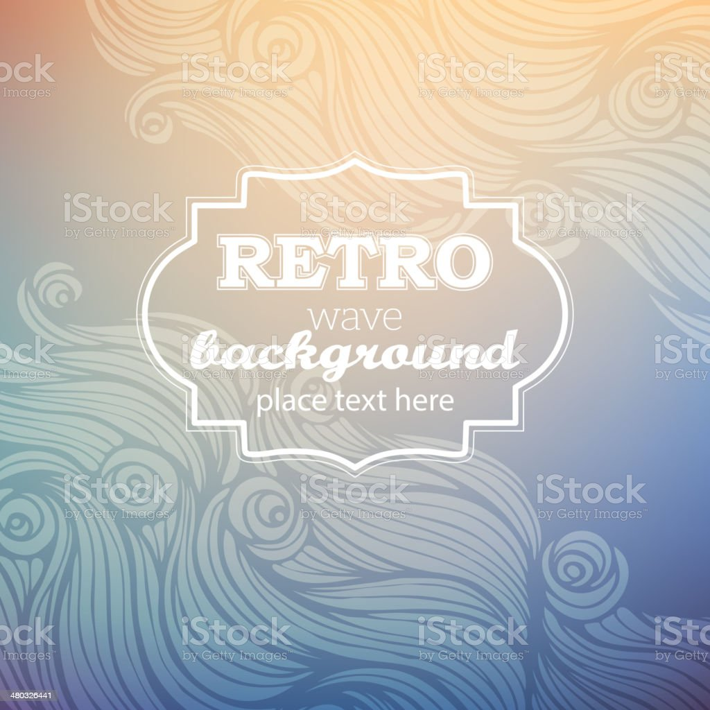 Retro wave background vector art illustration