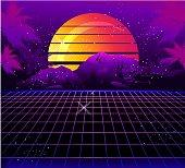 Retro Wave Synthé Vecteurs libres de droits et plus d'images