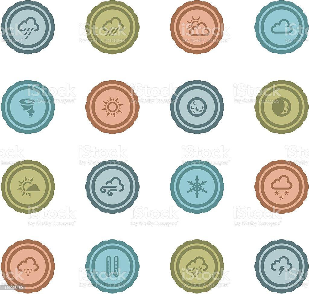 Retro Weather Badges royalty-free stock vector art