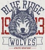 Retro Wolf Mascot Design