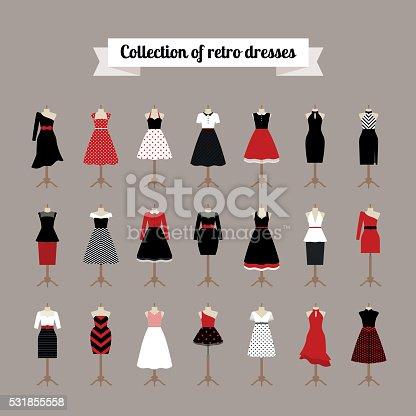 istock Retro woman dresses 531855558