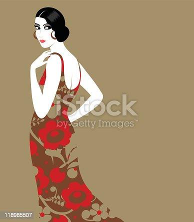 istock Retro woman 118985507