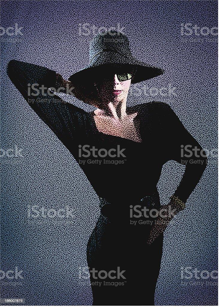 Retro Woman royalty-free stock vector art