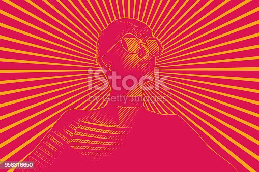 istock Retro woman with determined facial expression 958316650