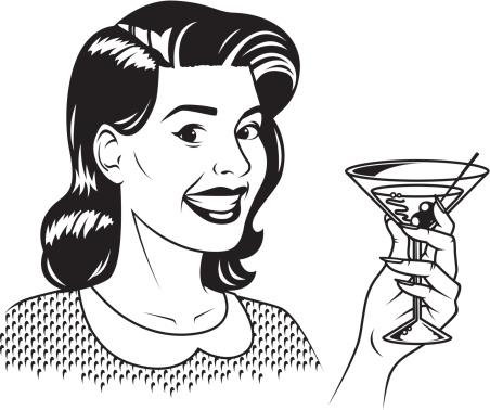 Retro Woman With Martini