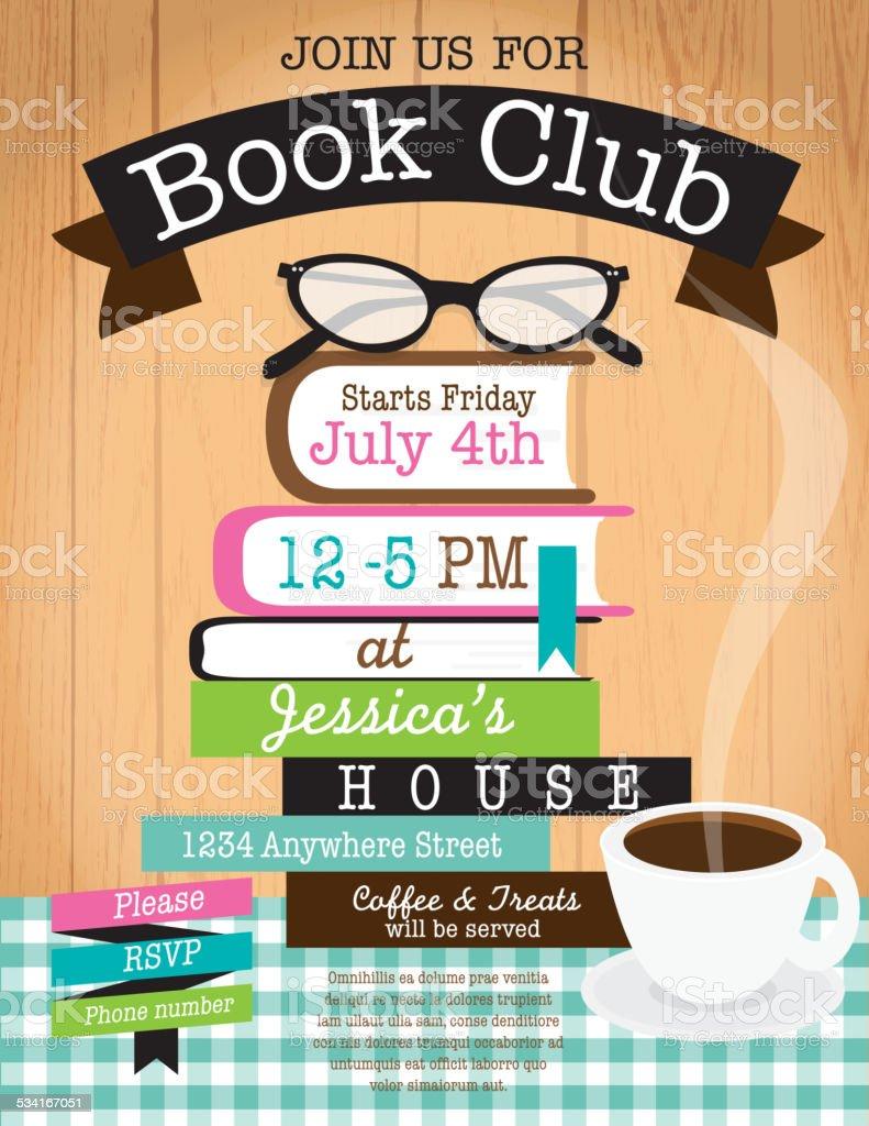 Retro Frau Buch Club Veranstaltung Einladung Designvorlage ...