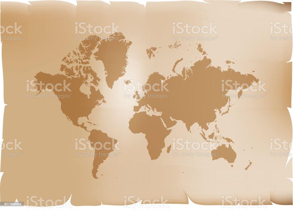 Retro world map vector illustration isolated on brown background retro world map vector illustration isolated on brown background royalty free retro world map vector gumiabroncs Gallery