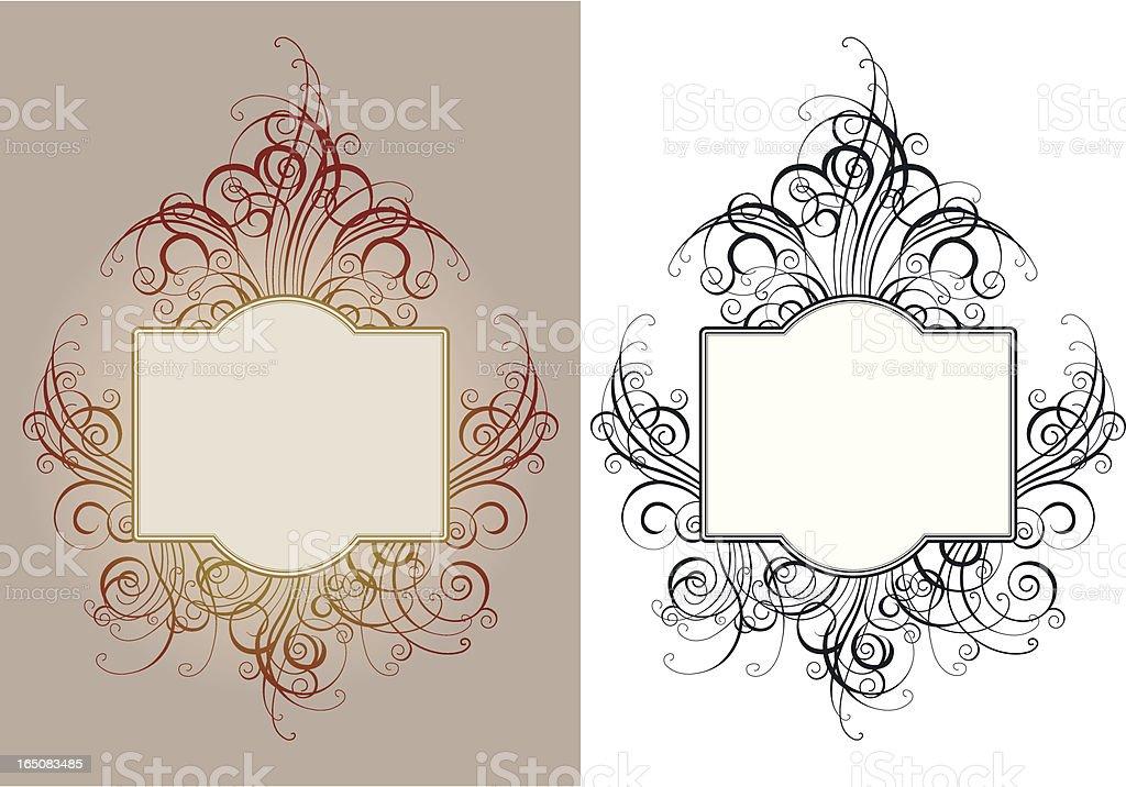 Retro_frame_1 royalty-free stock vector art