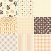 Seamless patterns. Easy to use. Saved in AI, EPS and JPG.