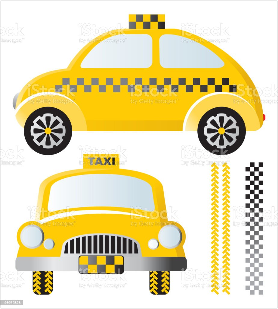 retro-styled taxi car royalty-free retrostyled taxi car stock vector art & more images of car