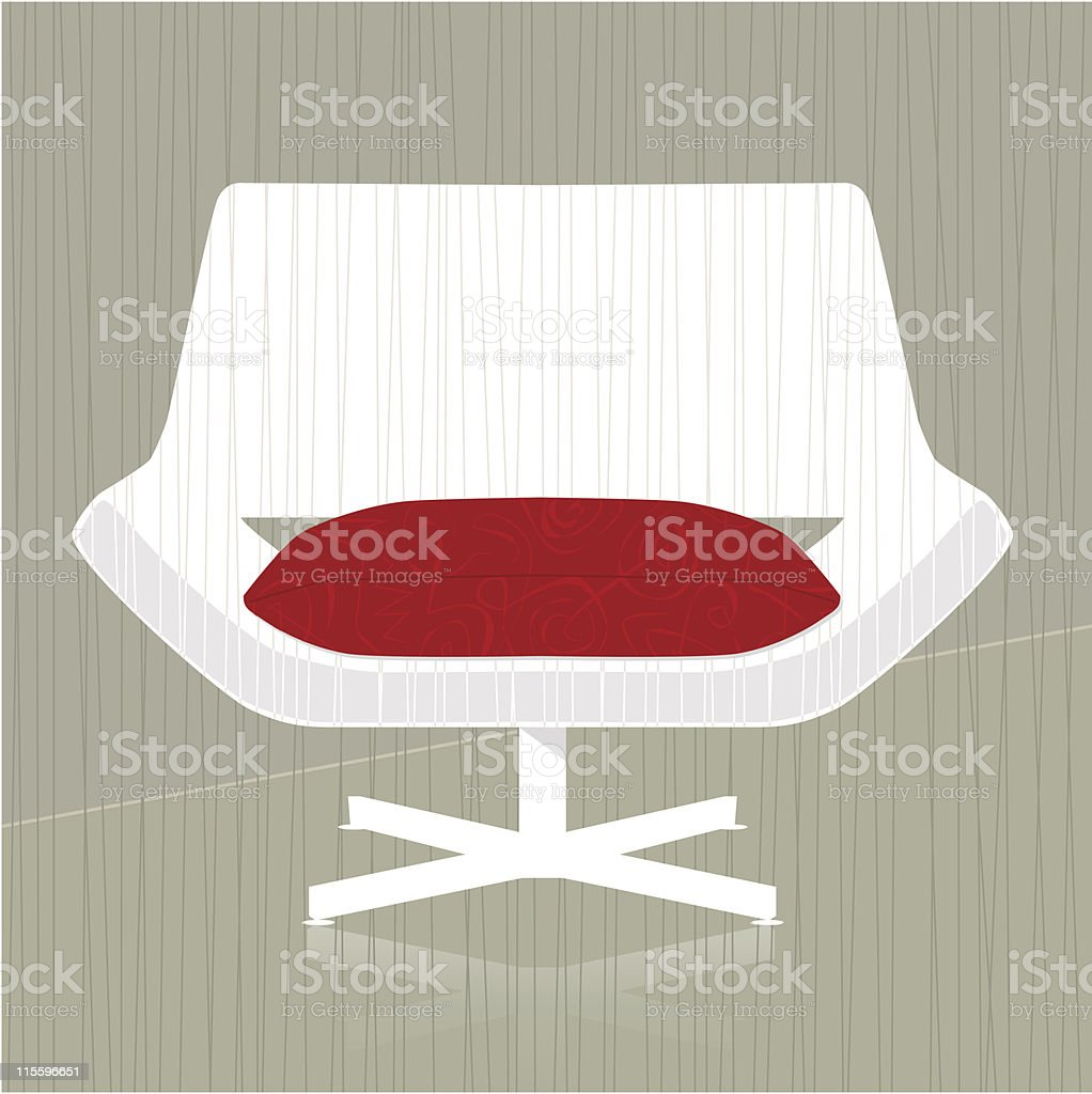 Retro-stylized Chair Icon royalty-free stock vector art
