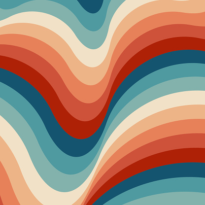 Retrowave 80s art retro rainbow vector illustration background