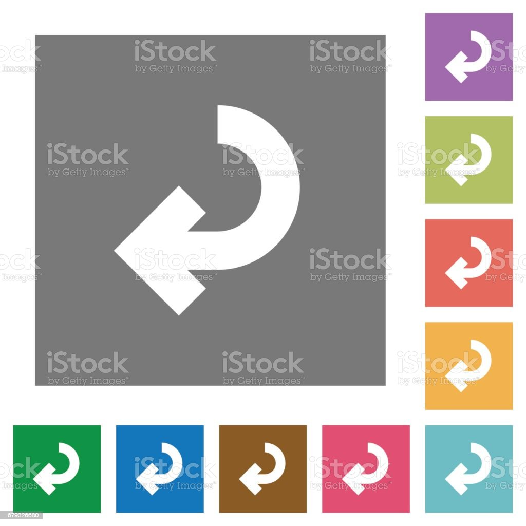 Return arrow square flat icons royalty-free return arrow square flat icons stock vector art & more images of applying