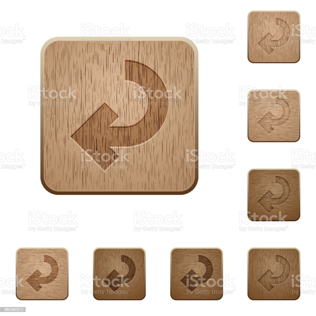 Return arrow wooden buttons return arrow wooden buttons – cliparts vectoriels et plus d'images de aboutissement libre de droits