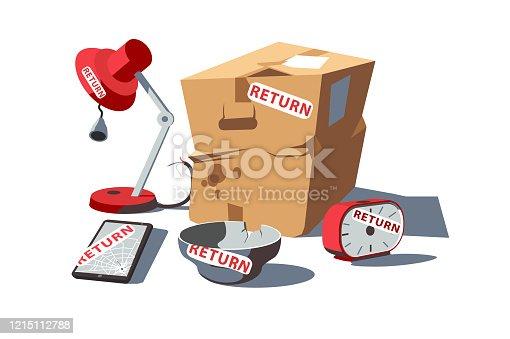 istock Return of damaged goods 1215112788