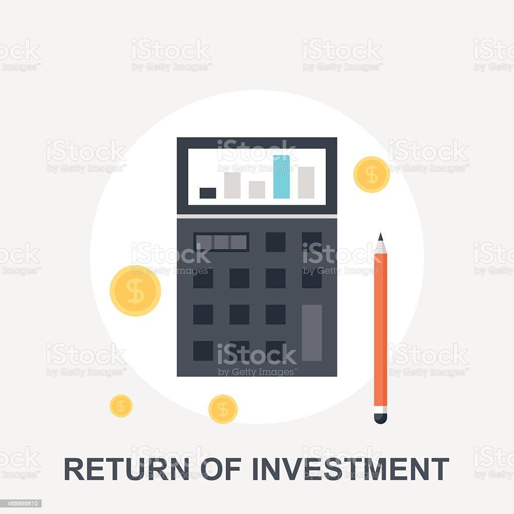 Return of Investment vector art illustration
