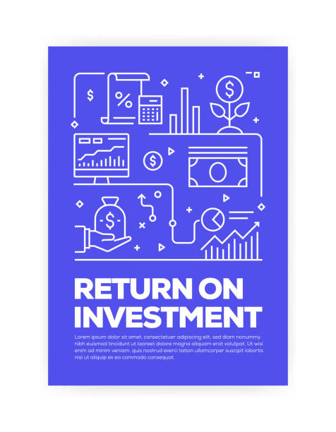 Return on Investment Concept Line Style Cover Design for Annual Report, Flyer, Brochure. Return on Investment Concept Line Style Cover Design for Annual Report, Flyer, Brochure. budget patterns stock illustrations