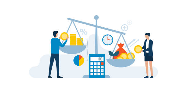 投資収益率コンセプト - 投資家点のイラスト素材/クリップアート素材/マンガ素材/アイコン素材