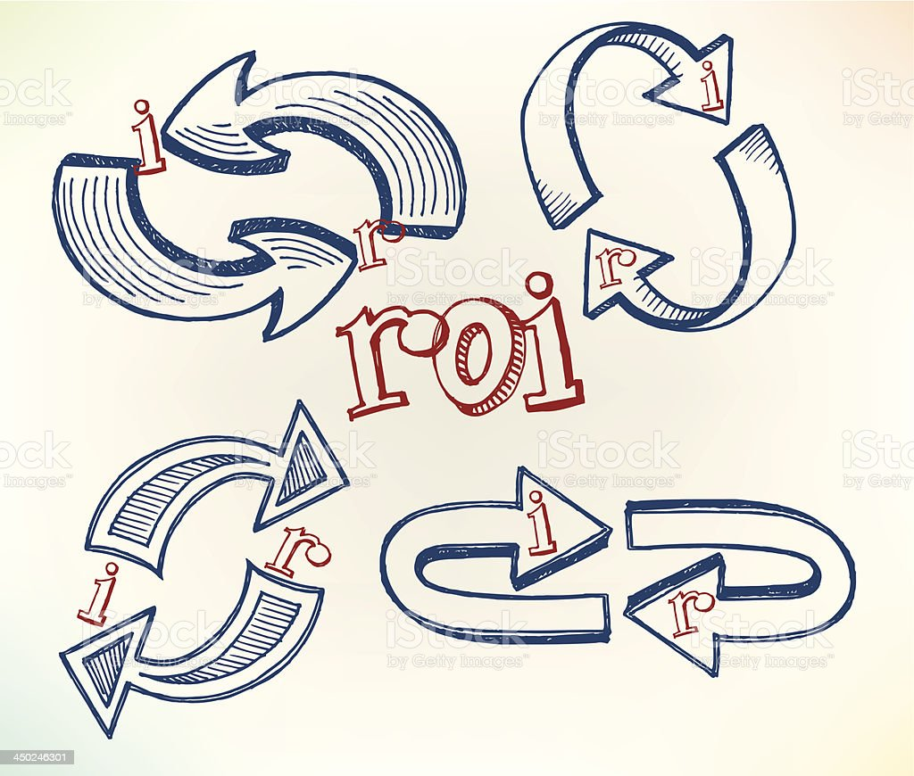 Return on Investment - Doodles vector art illustration