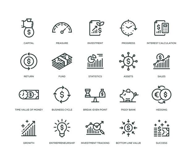 投資回報圖示-系列 - money 幅插畫檔、美工圖案、卡通及圖標