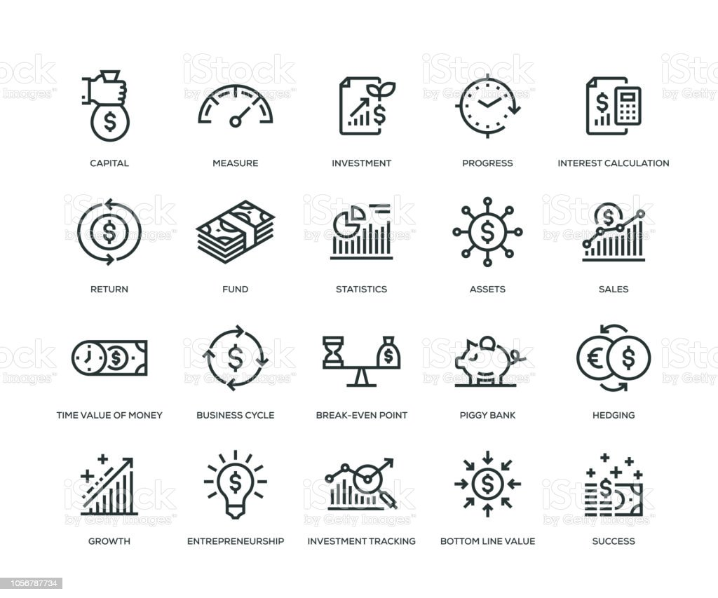 Return Sie on Investment Icons - Line Serie – Vektorgrafik