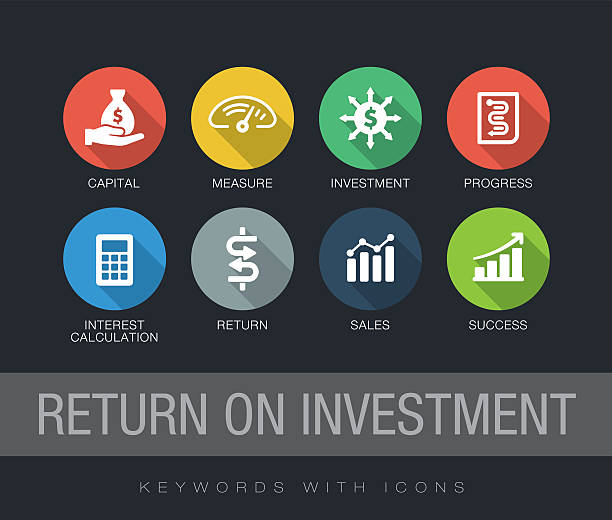 return on investment keywords with icons - 投資点のイラスト素材/クリップアート素材/マンガ素材/アイコン素材
