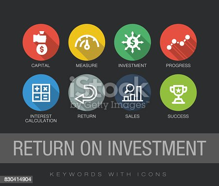 Return on Investment keywords with icons